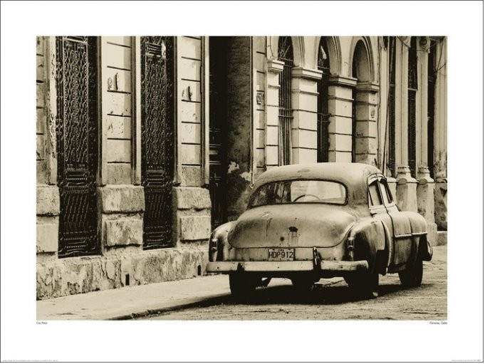 Lee Frost - Vintage Car, Havana, Cuba  Kunstdruk