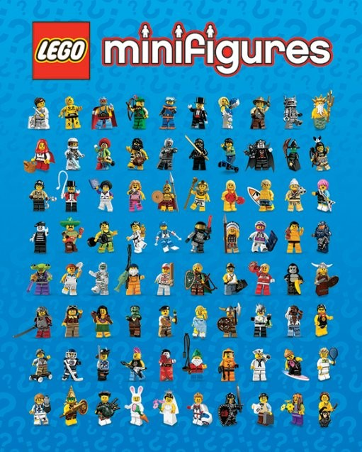 Lego Minifigures Poster Plakat 31 Gratis Bei Europosters