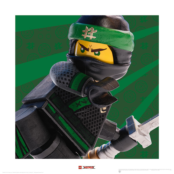 Kunst Reproductie Lego Ninjago Movie Lloyd Crop Kunstdruk
