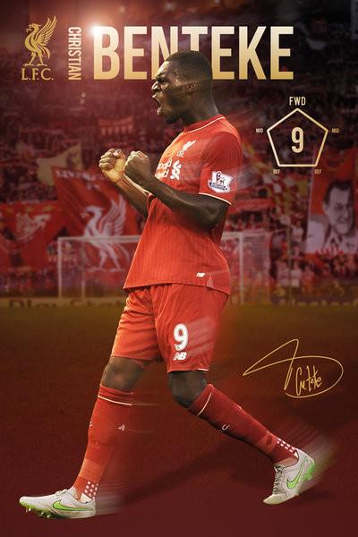 Póster Liverpool FC - Benteke 15/16
