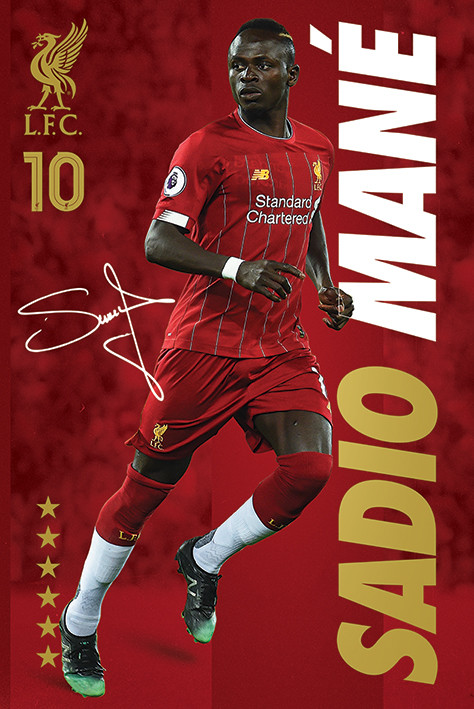 Poster Liverpool FC - Sadio Mane