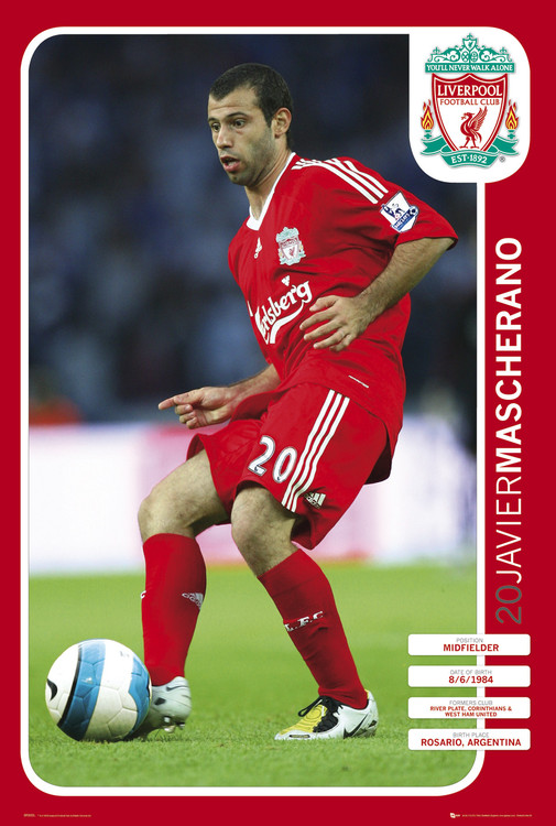 Liverpool - mascherano 08/09 Poster