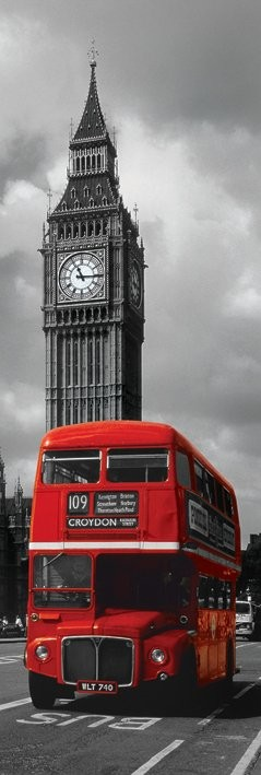 Londen - rode bus Poster