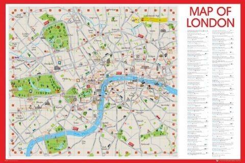 Karte London.Londoner Karte Karte Von London Poster Plakat 3 1 Gratis Bei Europosters
