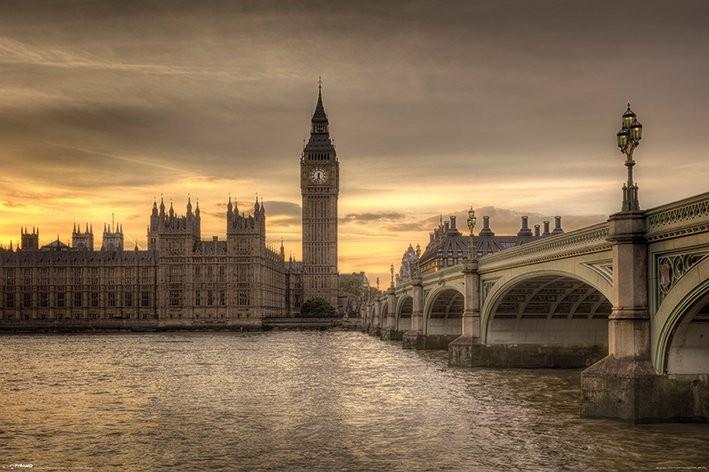 Poster Londres - Autumn Skies, Rod Edwards