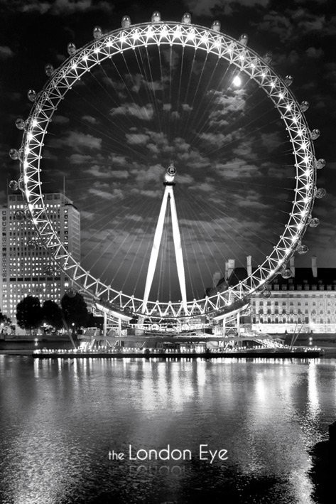 londres the london eye p ster l mina compra en. Black Bedroom Furniture Sets. Home Design Ideas