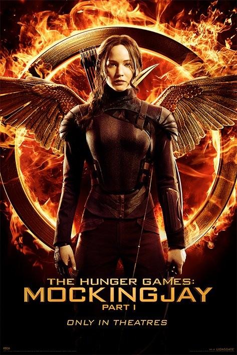 Los Juegos Del Hambre Sinsajo Parte 1 Katniss Poster Lamina