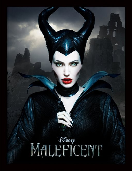 Maleficent - Dark ingelijste poster met glas