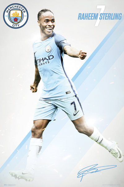 Póster Manchester City - Sterling 16/17