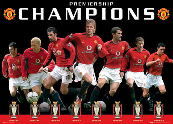 Poster Manchester United - eight trophies