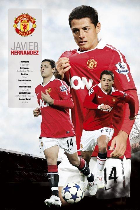 Poster Manchester United - hernandez 2010/2011