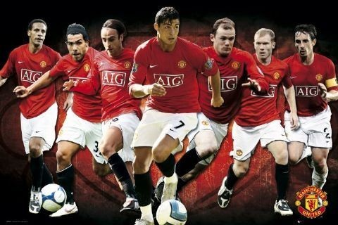 Poster Manchester United - players 08/09