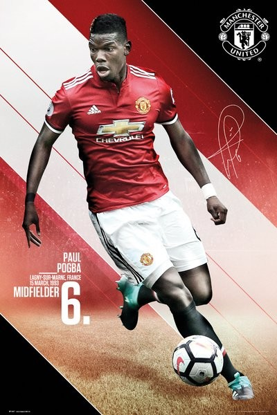d293847995652 Manchester United - Pogba 17/18 Poster, Plakat   3+1 GRATIS bei Europosters