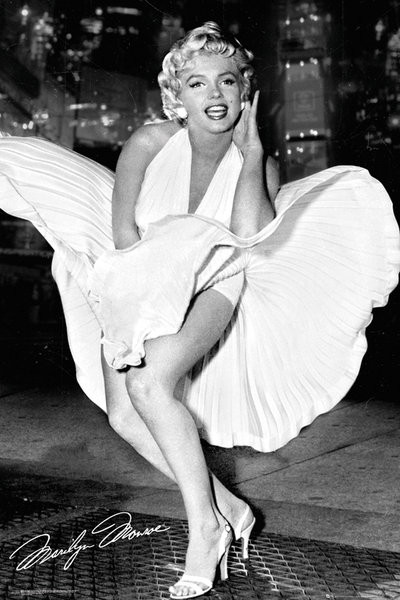 Marilyn Monroe - New York Dress Poster