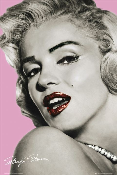 Poster, Quadro MARILYN MONROE - pink su EuroPosters.it