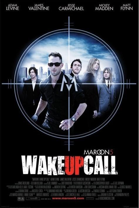 Poster Maroon 5 - wake up call