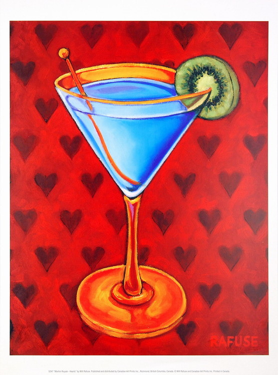 Martini Royale - Hearts Kunstdruk