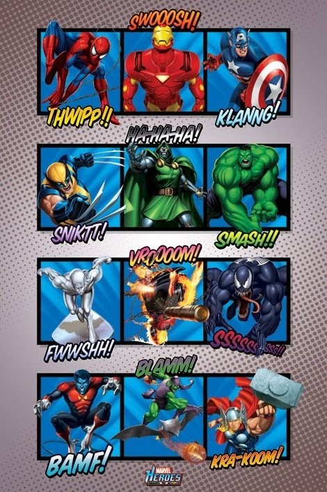 Poster MARVEL HEROES - sound effects