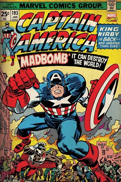 Póster Marvel Retro - Captain America - Madbomb