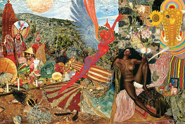Póster Mati Klarwein - Santana Annunciation (Abraxas Cover Artwork)