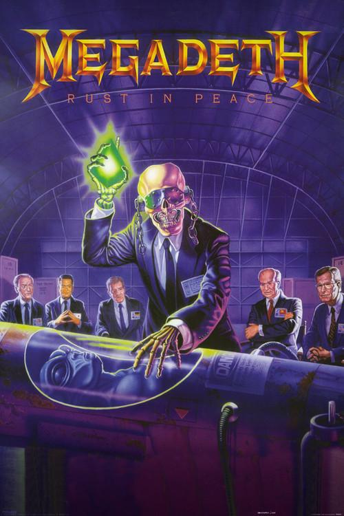 Megadeth Rust In Peace Póster Lámina Compra En Europosterses