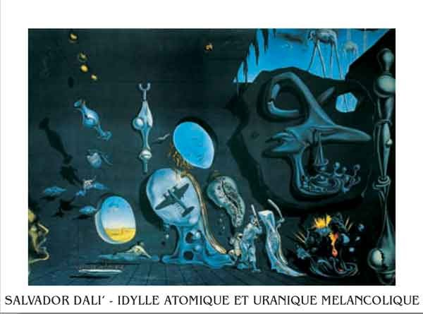 Melancholy: Atomic Uranic Idyll, 1945 Kunstdruk