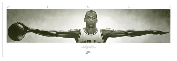 Michael Jordan - Wings, basketball Poster