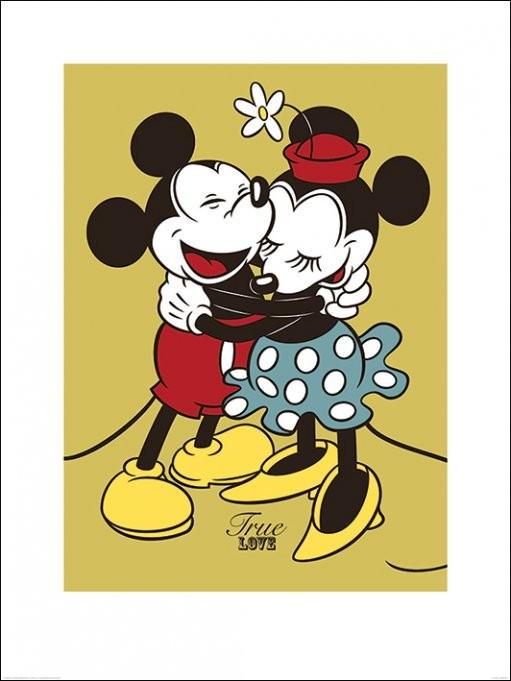 Kunst Reproductie Mickey Minnie Mouse True Love Kunstdruk