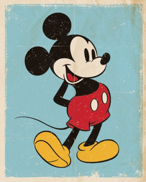 Póster Mickey Mouse - Retro