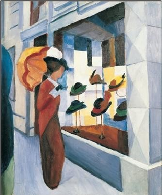 Milliner's Shop (Hutladen), 1923 Kunstdruk