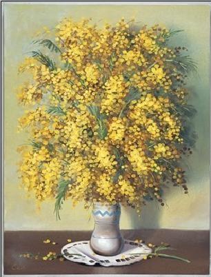 Mimosas Kunstdruk