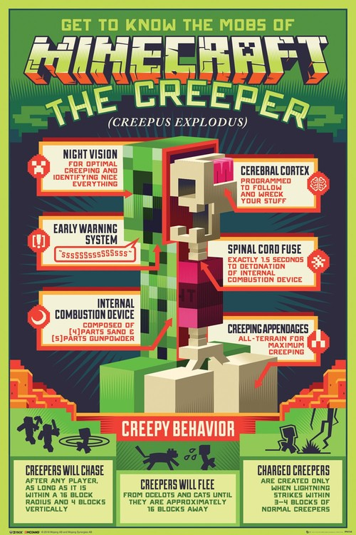 Póster  Minecraft - Creepy Behaviour