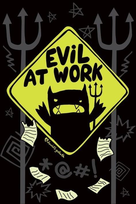Poster Monster mash - evil at work