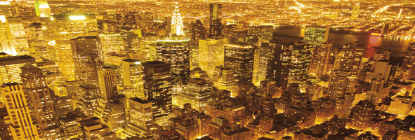 NEW YORK - golden  Poster / Kunst Poster