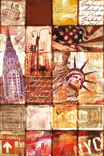 Poster New York - patchwork