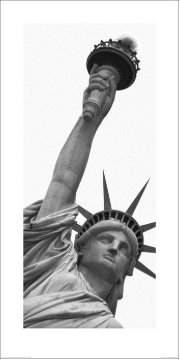 New York - Vrijheidsbeeld, Amy Gibbings Kunstdruk