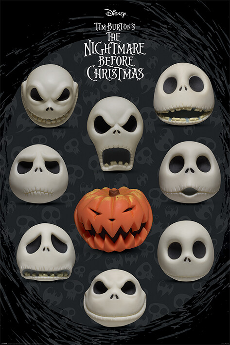 Poster Nightmare Before Christmas - Many Faces of Jack