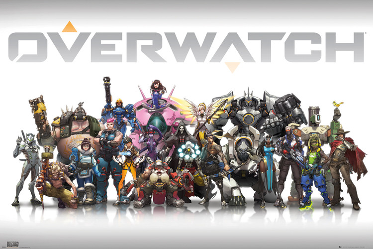 Póster  Overwatch - Characters Centred