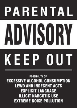 Parental advisory - keep out poster, Immagini, Foto