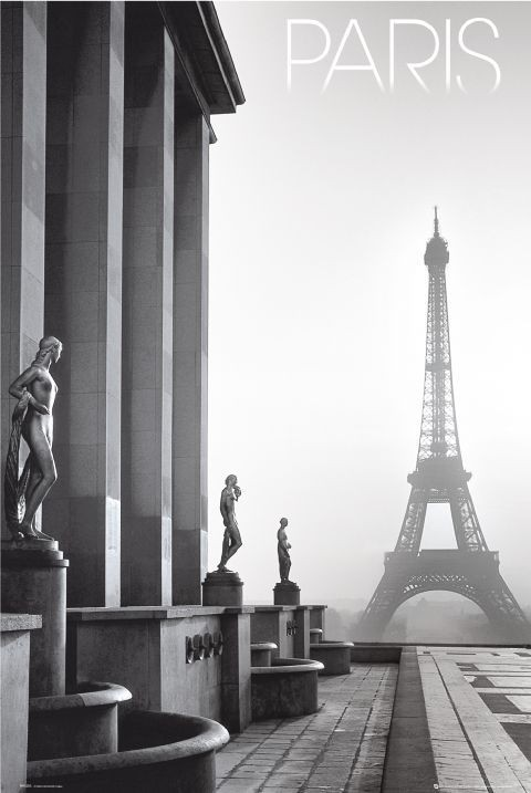 🤩 París - Eiffel tower Póster, Lámina | Compra en EuroPosters.es