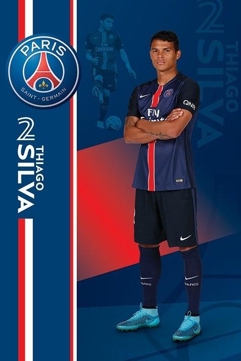 Póster Paris Saint-Germain FC - Thiago Silva