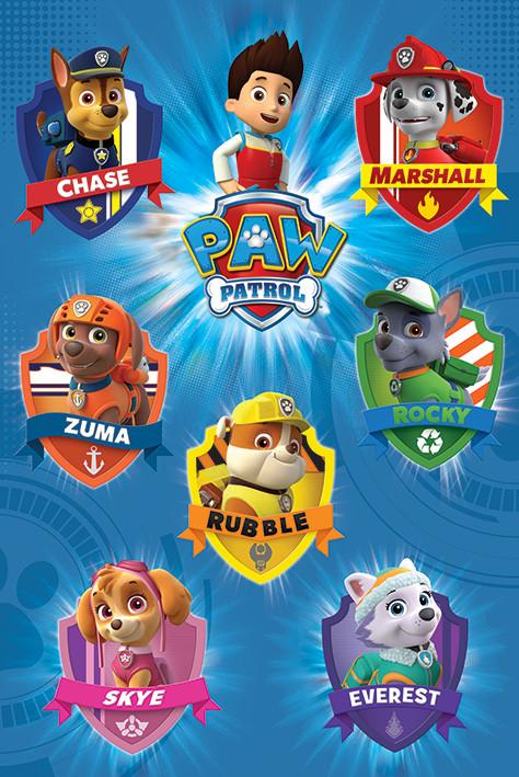 Paw Patrol Crests Poster Plakat 31 Gratis Bei Europosters