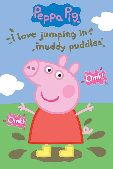 Poster Peppa Wutz - Muddy Puddle