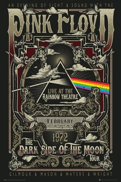 Póster Pink Floyd - Rainbow Theatre