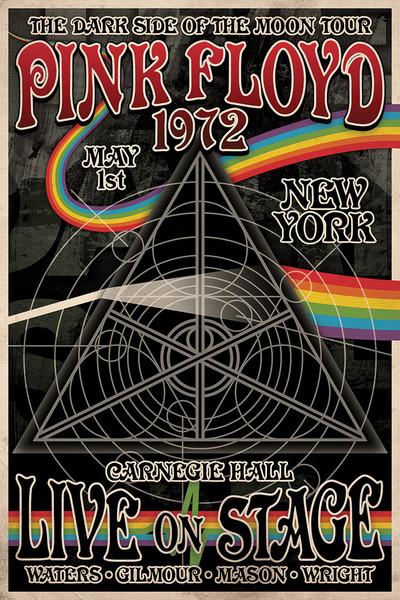 Of PosterQuadro Dark Su Side The Moon Floyd Pink Tour Tha eWE9DH2YI