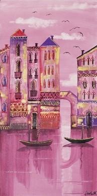 Pink Venice Kunstdruk