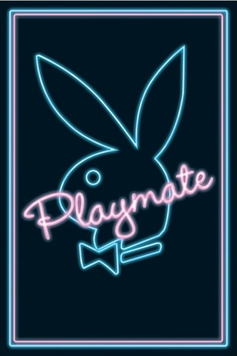 Playmate - neon Poster
