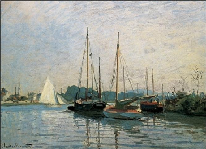 Pleasure Boats, Argenteuil, 1872-3 Kunstdruk