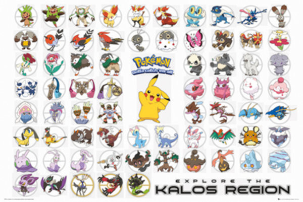 Póster  Pokemon - Kalos Region