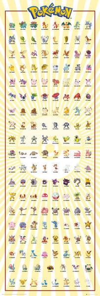Poster  Pokemon - Kanto 151